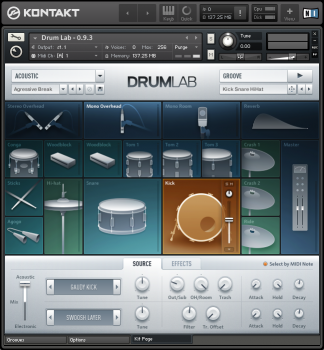 NI DrumLab Screenshot